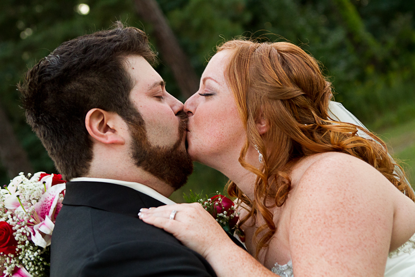 groom beard bride red hair curls intimate moment wedding pictures