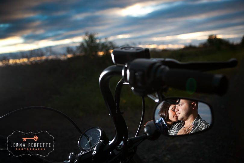 neshanic station nj engagement session Bridge NJ Engagement Cowboy Stonework Motorcycle (5)